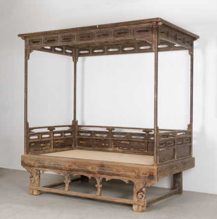 four post canopy bed_side view