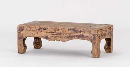 pair of elm footrests