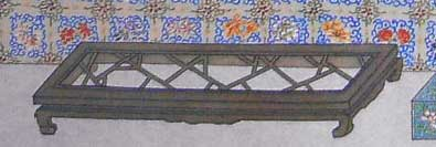 qianlong painting, detail of footrest
