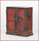 red lacquer chest