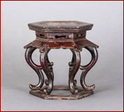 cabriole leg table stand